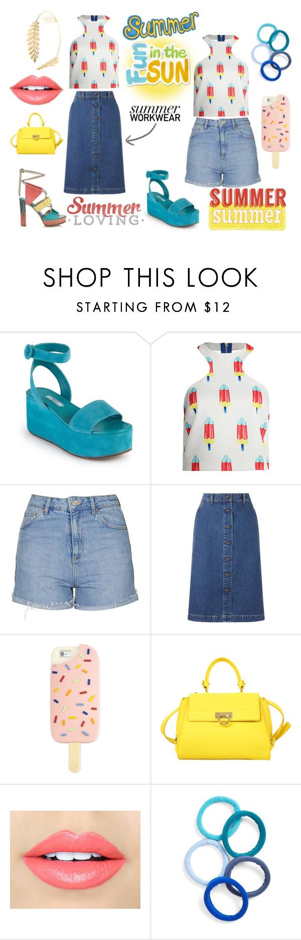 """Summer Power"" by closet365 on Polyvore featuring moda, Prada, re:named, Topshop, John Lewis, Jimmy Choo, Tory Burch, Salvatore Ferragamo, Fiebiger y L. Erickson"
