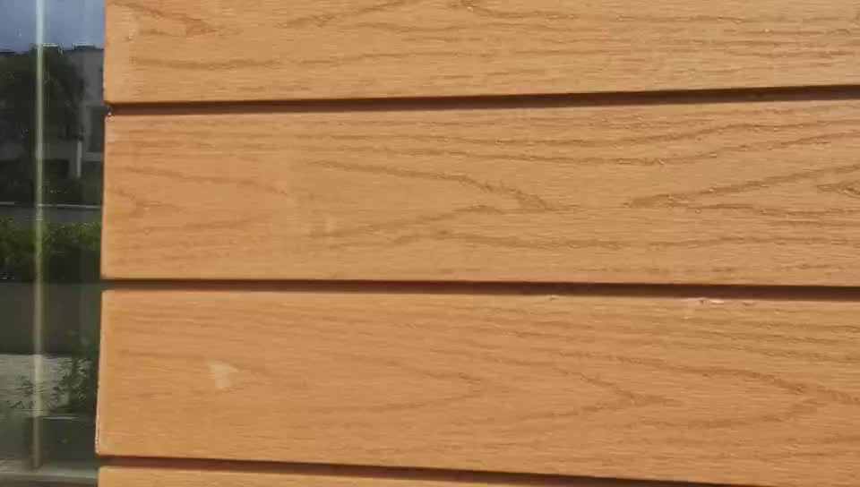 Waterproof Wooden Wpc Wall Siding Plastic Composite Wall Cladding