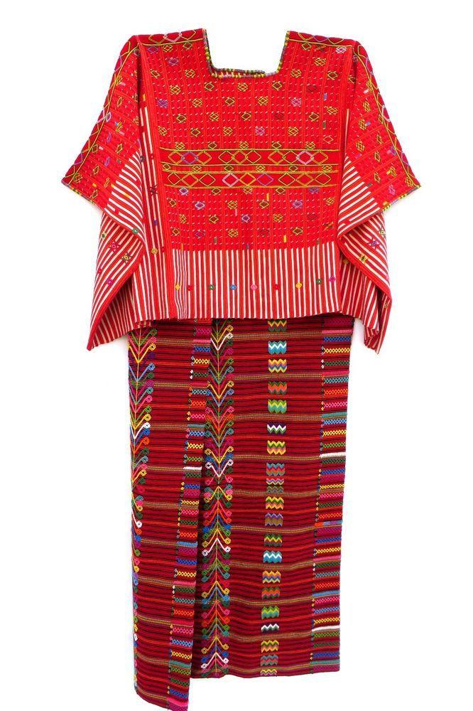 Vintage guatemalan wedding huipil + skirt ~ san rafael petzal guatemala