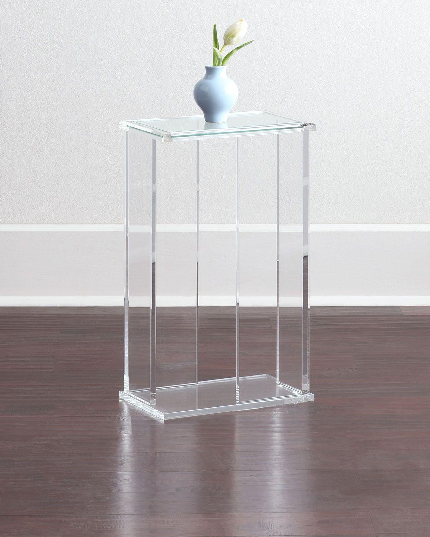 Interlude Home Chase Acrylic End Table Acrylic Side Table Acrylic Table Acrylic Furniture