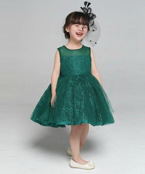 e0efa6b345b Green flower girl dress