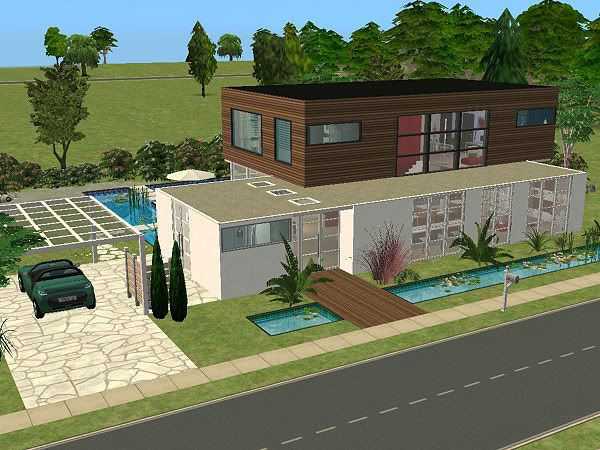 H uservorstellung amy s h user sim forum sims h user for Modernes haus sims