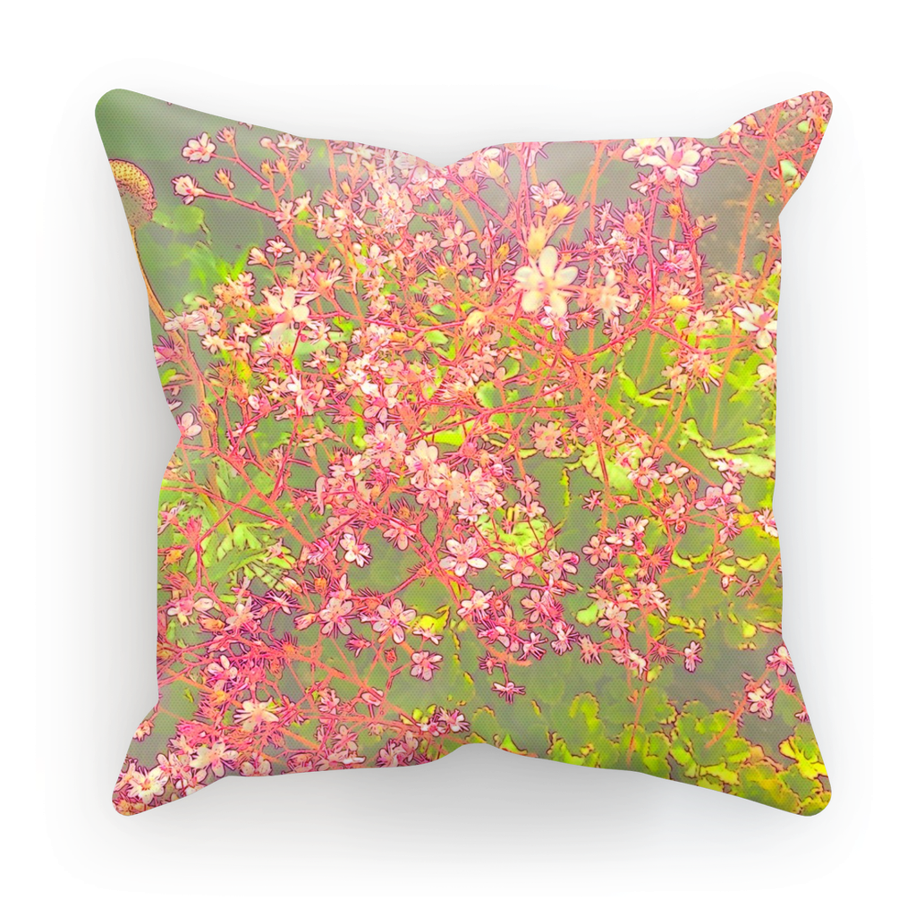 Japanese Blossom Pink Cushion Sterner Design Cushioning Your