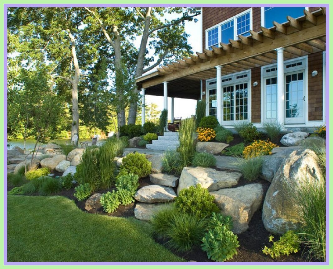 110 Reference Of Landscaping Ideas Hill Front Yard Front House Landscaping Large Yard Landscaping Backyard Landscaping