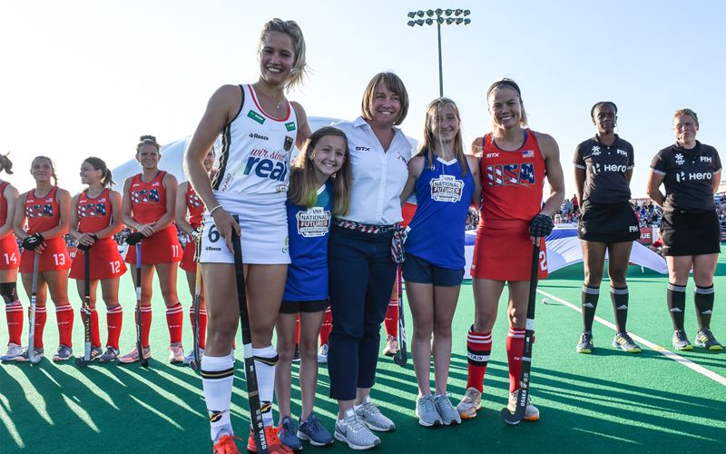 To Help Mark Olympicday On Saturday June 22 The International Hockey Federation Fih And Usa Field Hockey Joined Together Arou Field Hockey Sports Olympics
