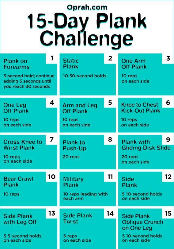 The 15 Day Plank Challenge Plank Challenge Plank Workout Workout Challenge