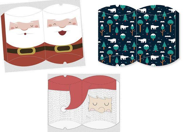Cajas Almohada para Navidad para Imprimir Gratis. | Ideas y material ...