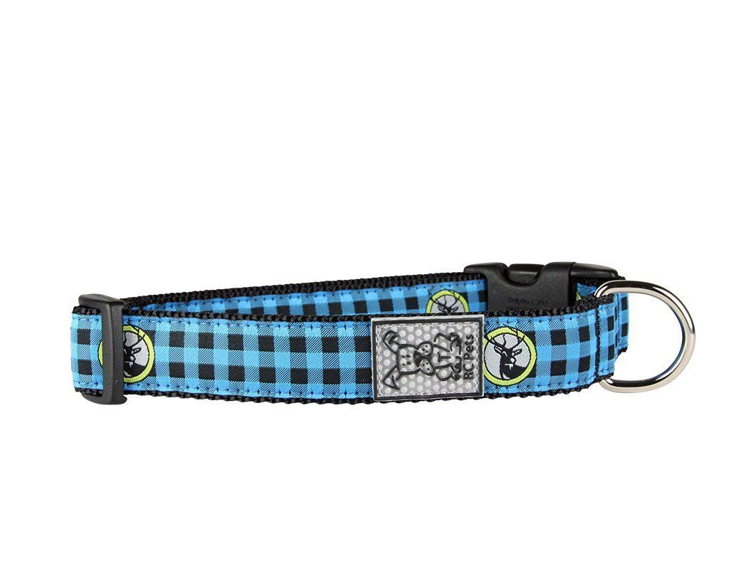 Rc Pet Products Adjustable Dog Clip Collar Blue Buffalo Plaid