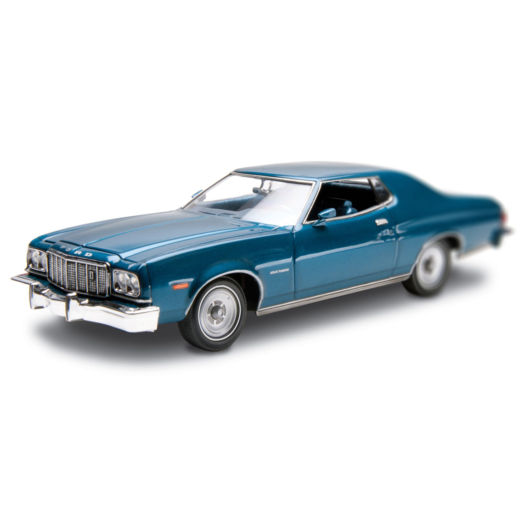 76 Ford Gran Torino 1 25 Scale Model Kit From Revell Kit Features Detailed 351 Cubic Inch Windsor Engine Tampo Revell Model Kits Model Kit Scale Model Kits