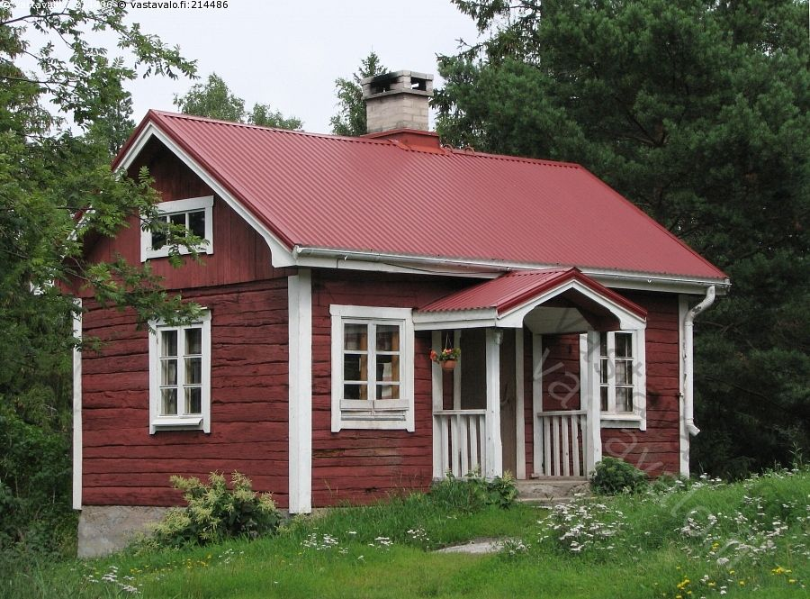 Finnish red and white cottage