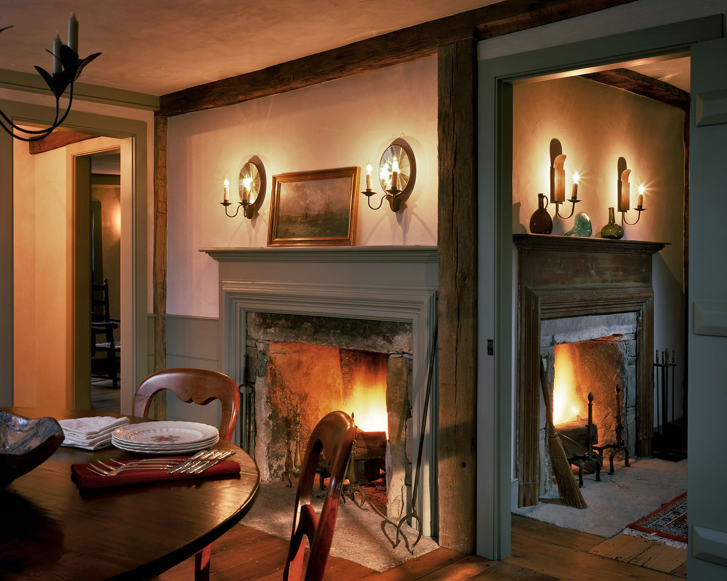 Candles In Fireplace Ideas