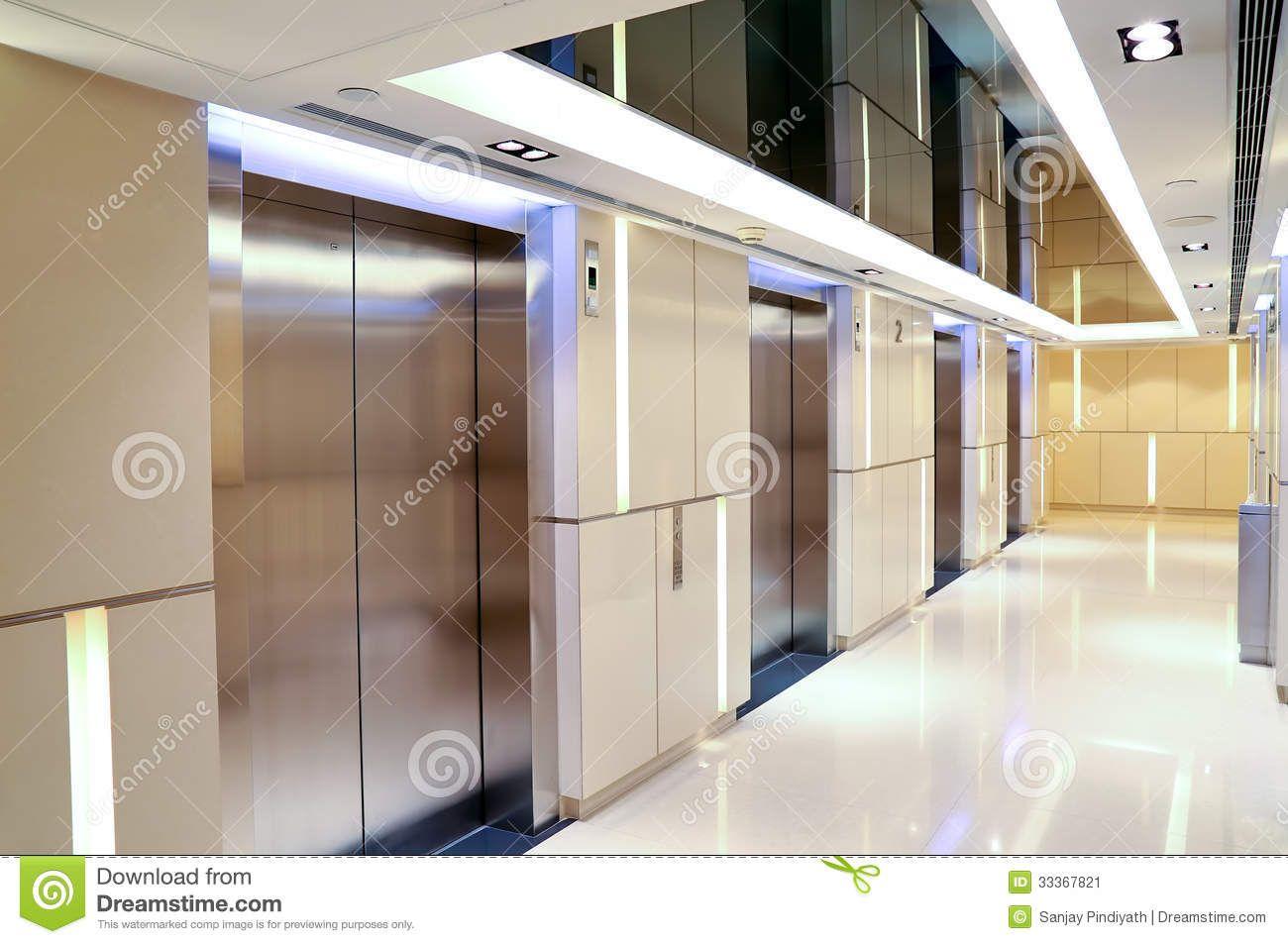 Modern Building Elevator Lobby Stock Image Image