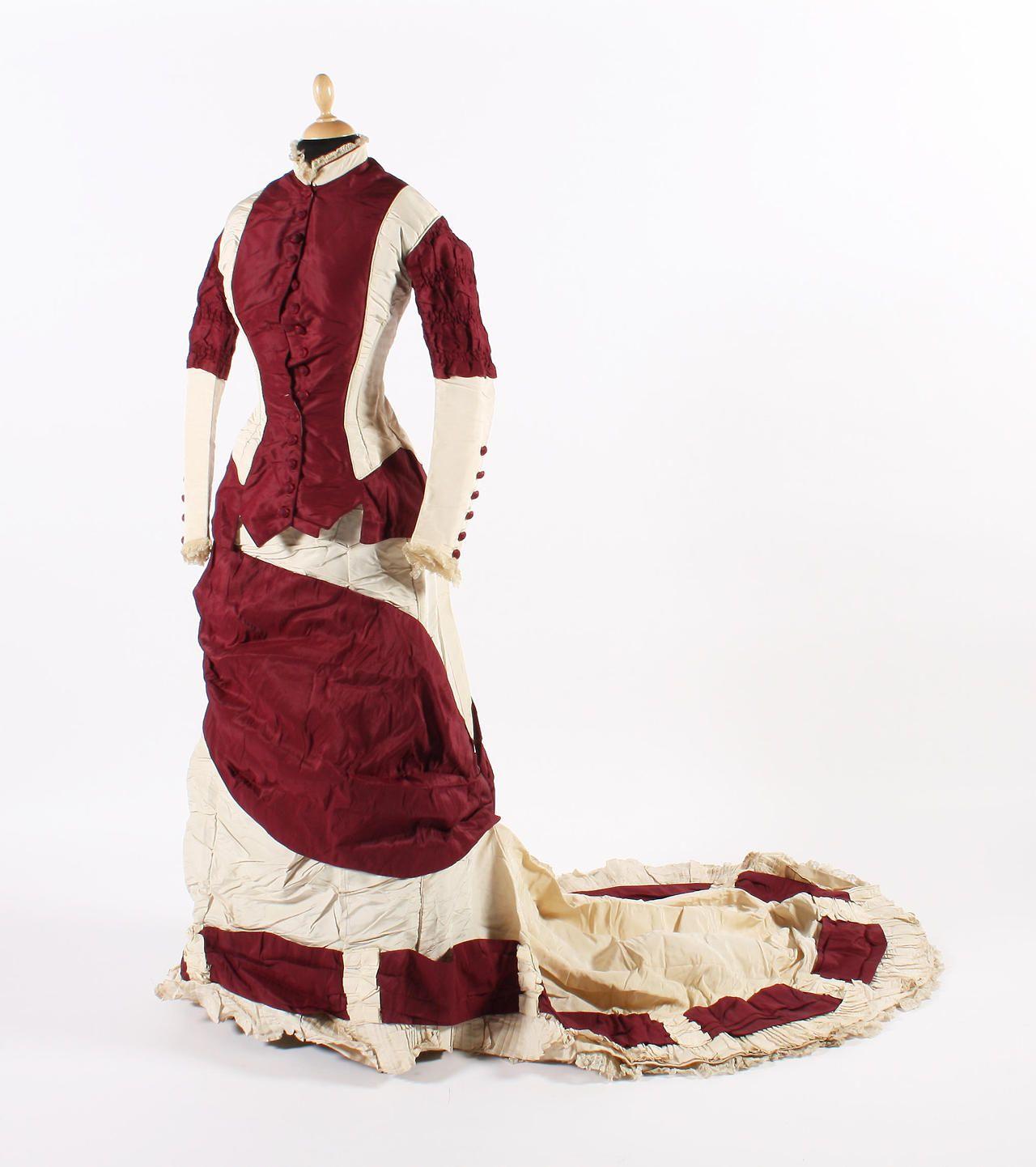 Day dress, late 1870's  From Bonham's
