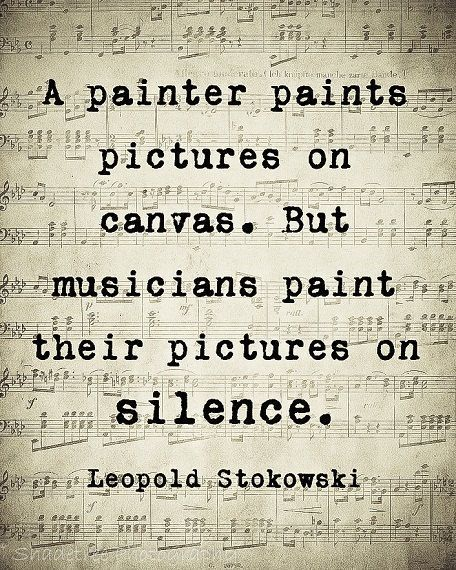 Leopold Stokowski Quote, Musician Gift Idea, Music Lover Gift, Music Quote Art, Unframed