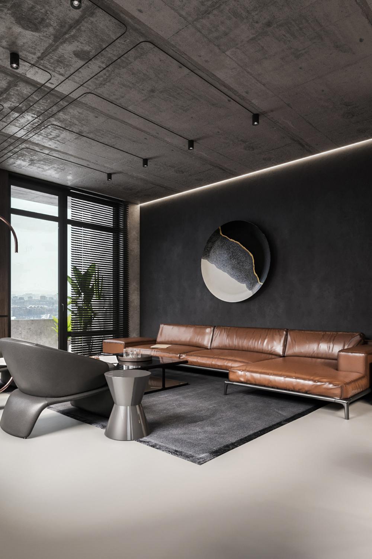 Loft Style Apartment Design On Behance Rustic Industrial Decor