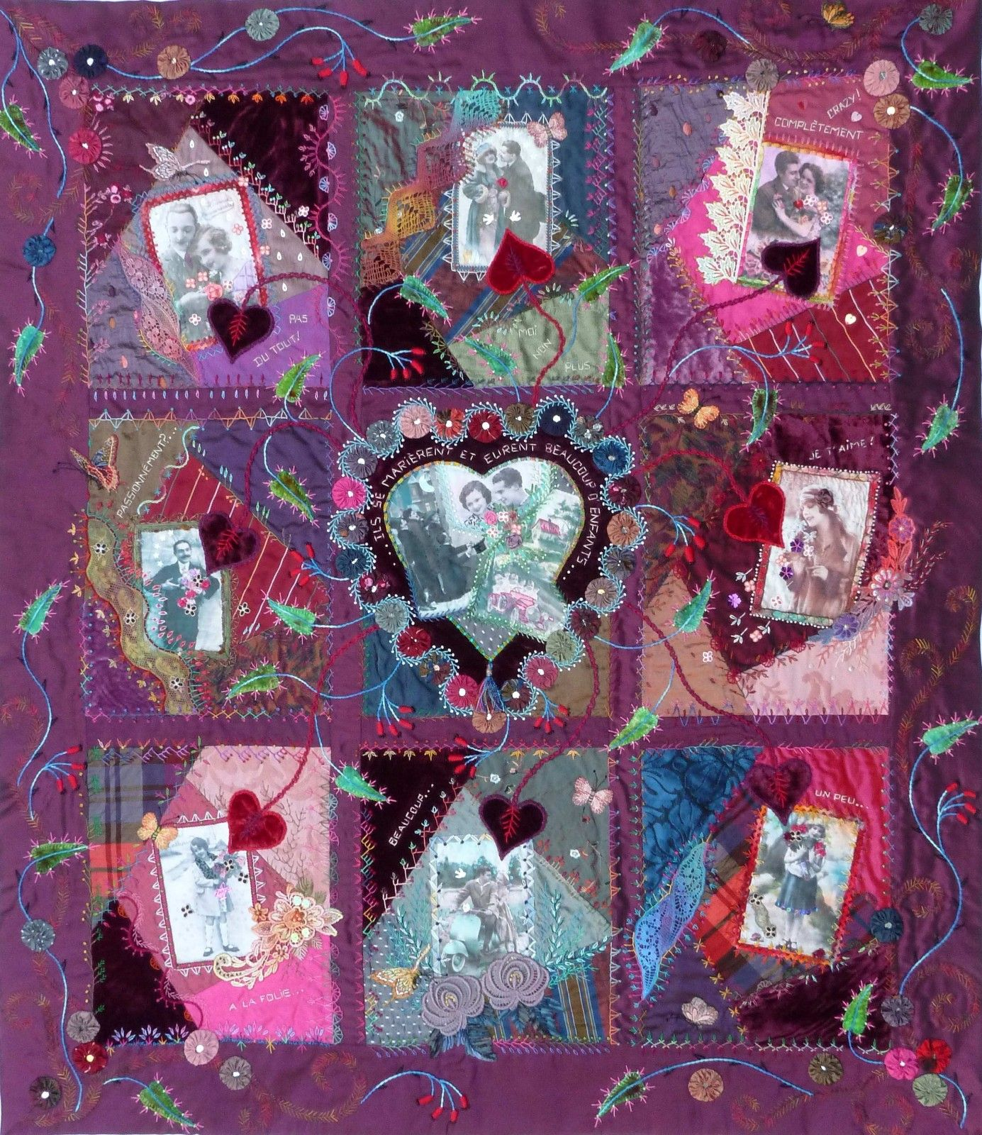 art textile patchwork tableaux textiles art textile pinterest art textile patchwork et. Black Bedroom Furniture Sets. Home Design Ideas
