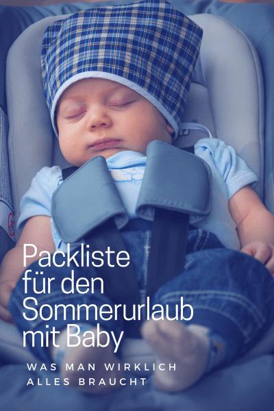 Sommerurlaub Mit Baby