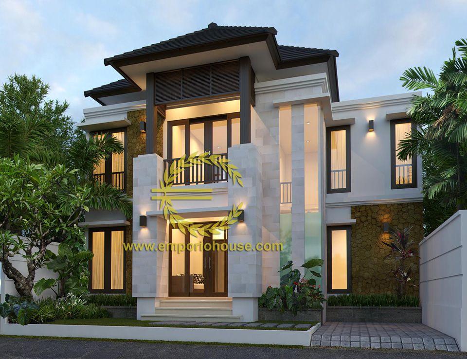 desain rumah 2 lantai 4 kamar lebar tanah 11 meter dengan
