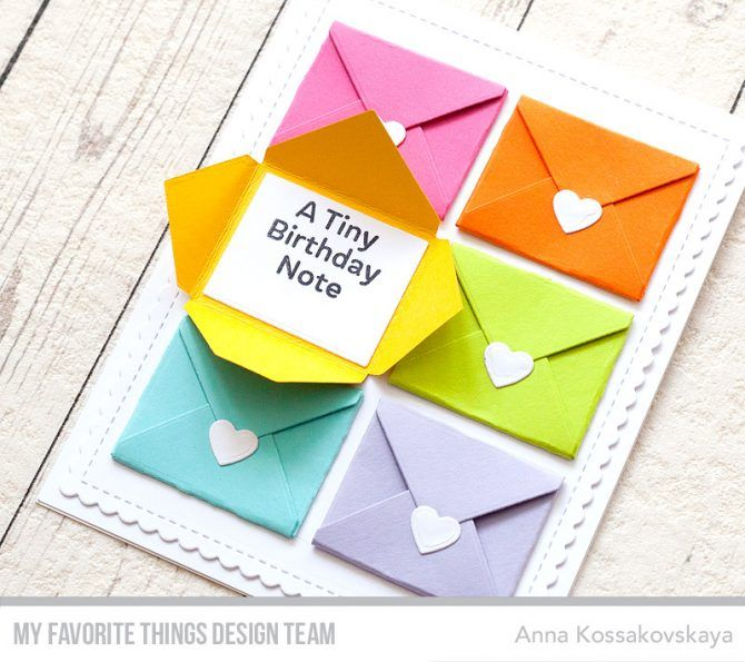 Card Mail Envelope MFT Sending Birthday Wishes Kit Die Namics Mftstamps June 2017 Reveal Day 1 Akossakovskaya Cardmaking