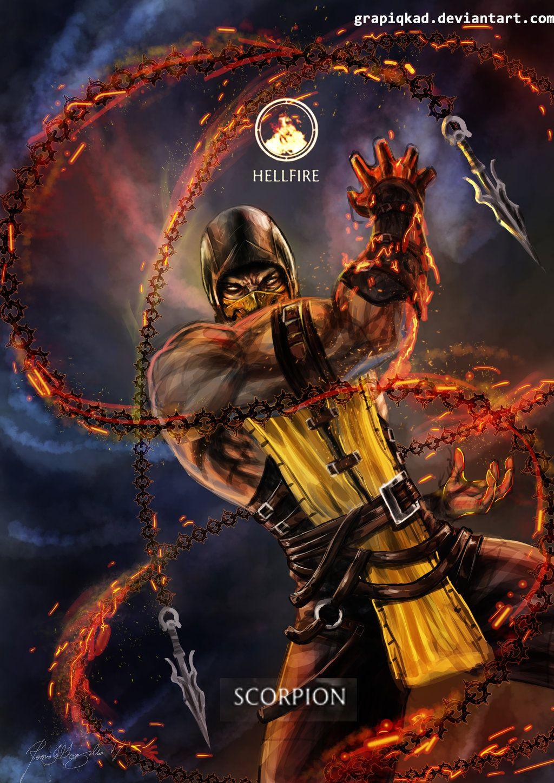 Mortal Kombat Online: Mortal Kombat X- Scorpion Hellfire Variation By Grapiqkad