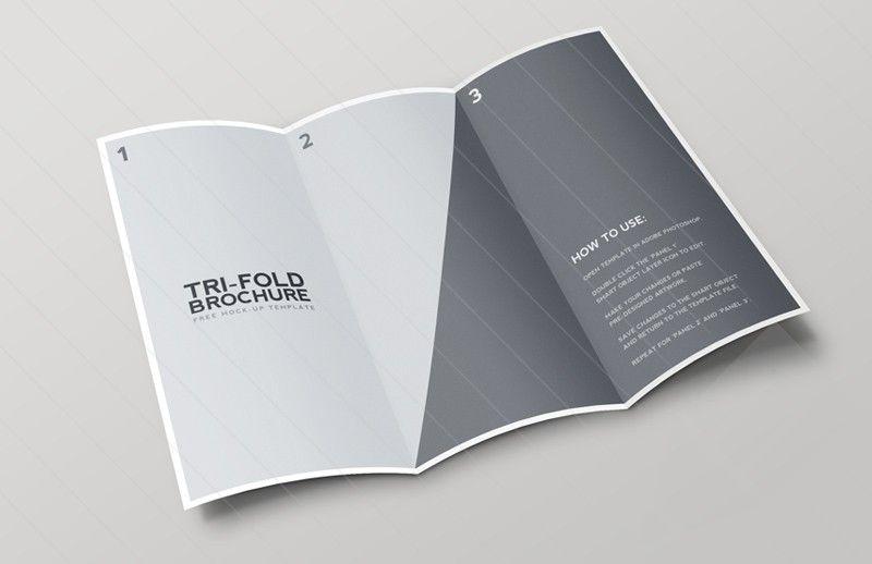 Tri Fold Brochure Mockup Template Mockup Free Brochure And Brochures