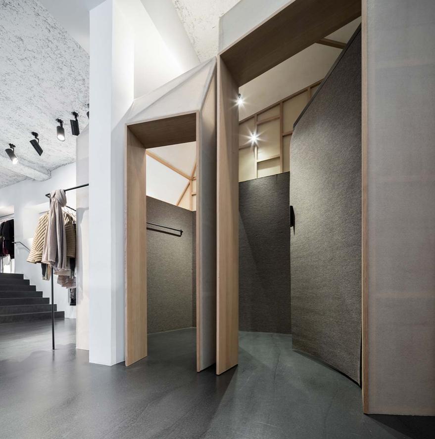 Am nagement boutique isabel marant victor hugo paris by cigu collectif mat riaux sol - Sol interieur beton brut ...
