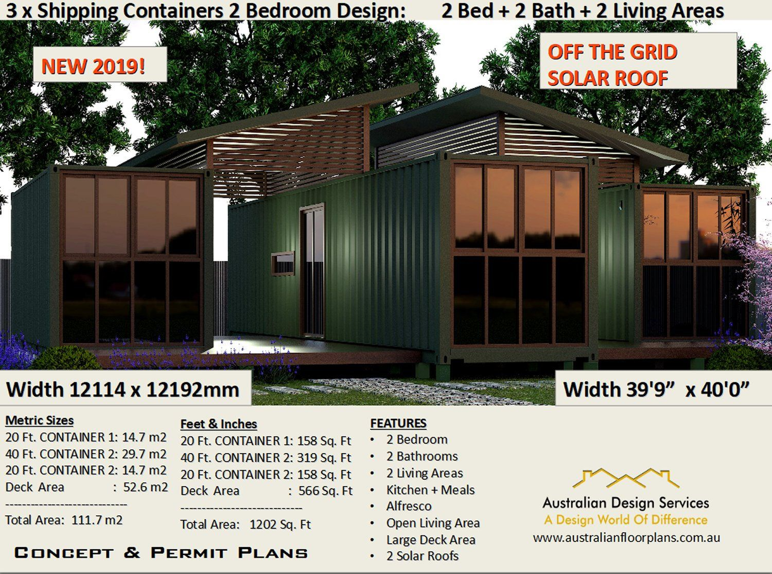 2 Bedroom Shipping Container House Plans 2 Bed Container Etsy Shipping Container House Plans Container House Plans Container House