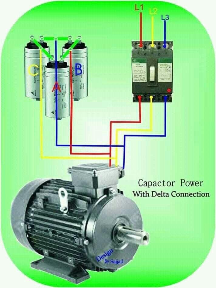 Delta Power Factor Correction Electrical Installation Electrical Circuit Diagram Diy Electrical