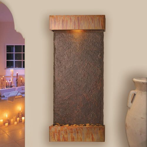 Rustic Wall Mounted Waterfall Modern Fountain Wall Fountain