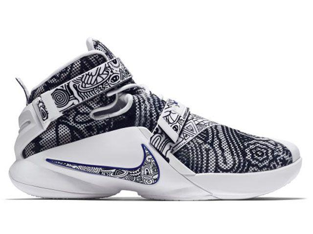 Nike Zoom LeBron Soldier 9 IX EP Freegums Black White Concord (812571-014)  - RMKstore