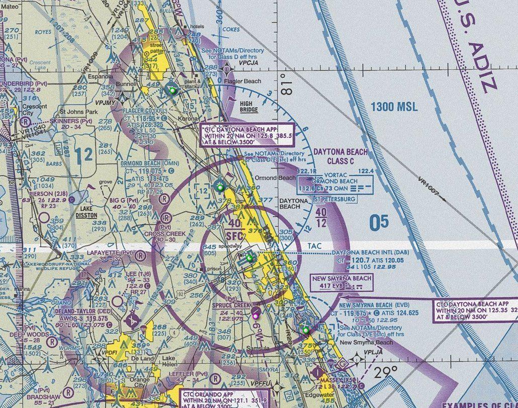 Sectional Aeronautical Chart (Daytona Beach, Florida, US