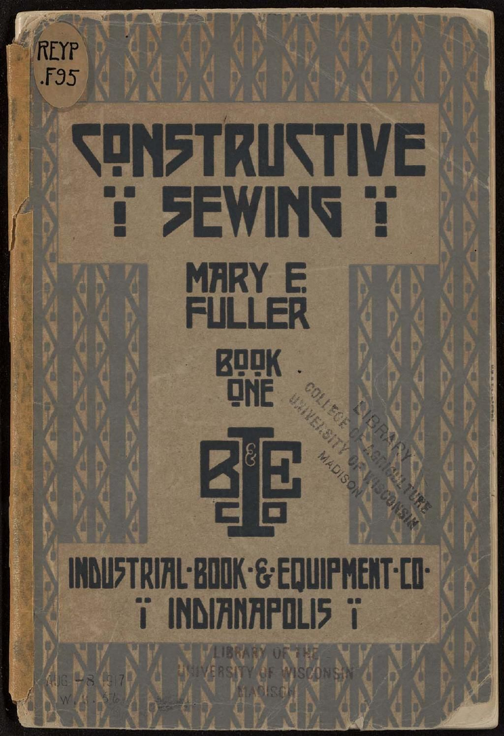 Constructive Sewing by Mary E Fuller (1916) - Hand sewing techniques