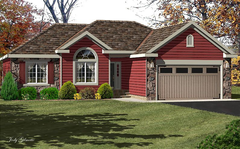 Single ranch house red siding red houses with siding ranch style pinterest red houses - Red exterior wood paint plan ...