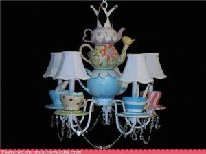 Alice in Wonderland tea party chandeleir. by aida
