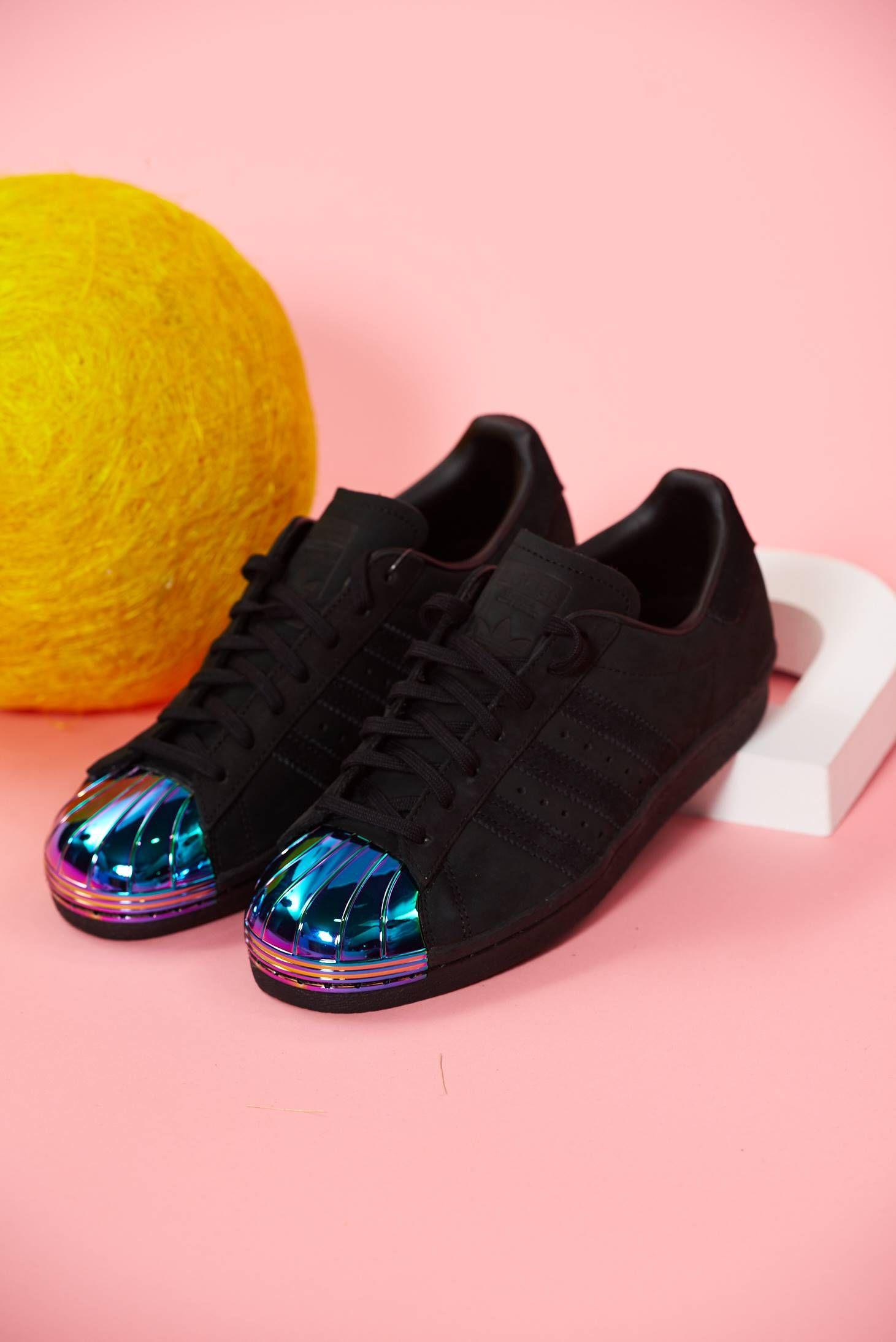 Comanda online, Pantofi sport din piele naturala Adidas originals superstar 80s metal toe negru cu