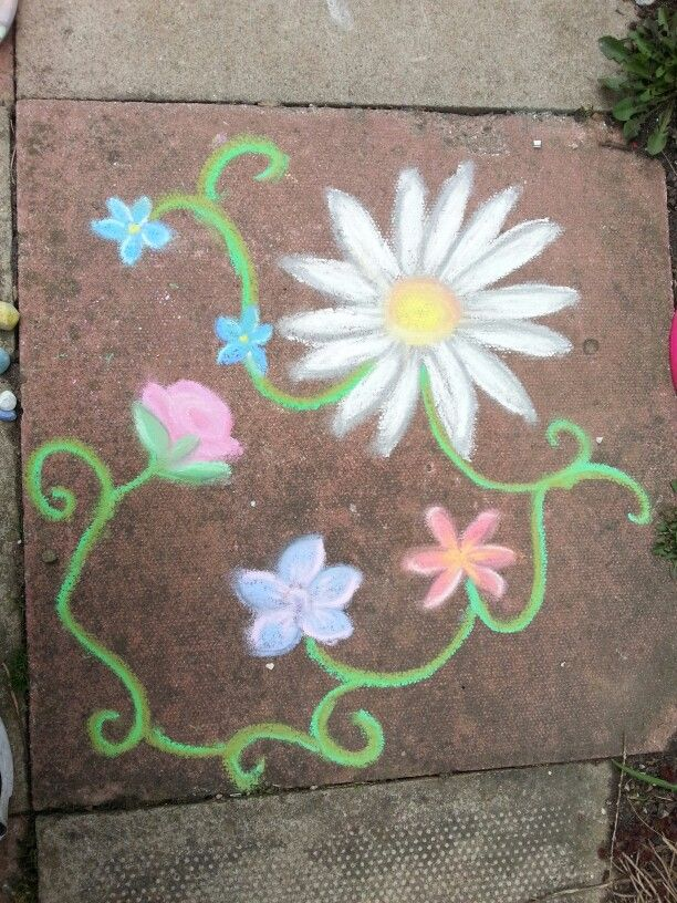 chalky flowers sidewalk chalk art chalk art easy chalk on simply wall street id=77200