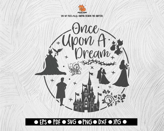 Once Upon A Dream Disney Club Sleeping Beauty Clipart Svg Disney Digital File Download Dxf Eps Png Jepg Svg Png Disney Silhouettes Sleeping Beauty Fairies Sleeping Beauty Art