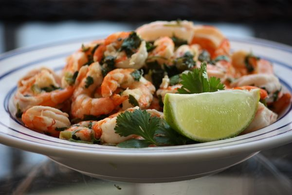 Spicy Cilantro Lime Shrimp #paleo