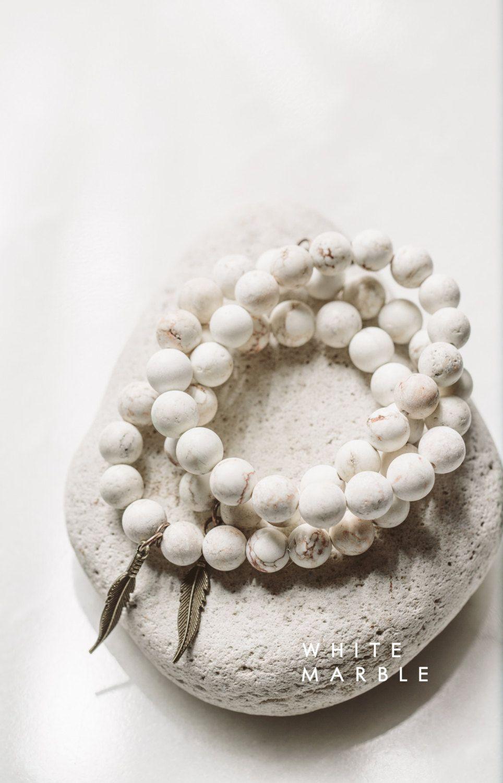 Pulseras la esperanza de mármol blanco Druzy por MoxieSaints