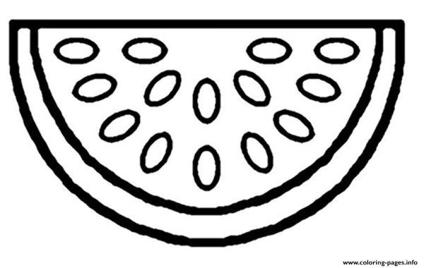 Free Watermelon Fruit Coloring Pages Printable Fruit Coloring Pages Watermelon Fruit Watermelon Drawing