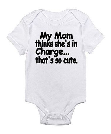 Mom Thinks Shes In Charge Gerber OnesieFunny Sarcastic Bossy Baby Romper