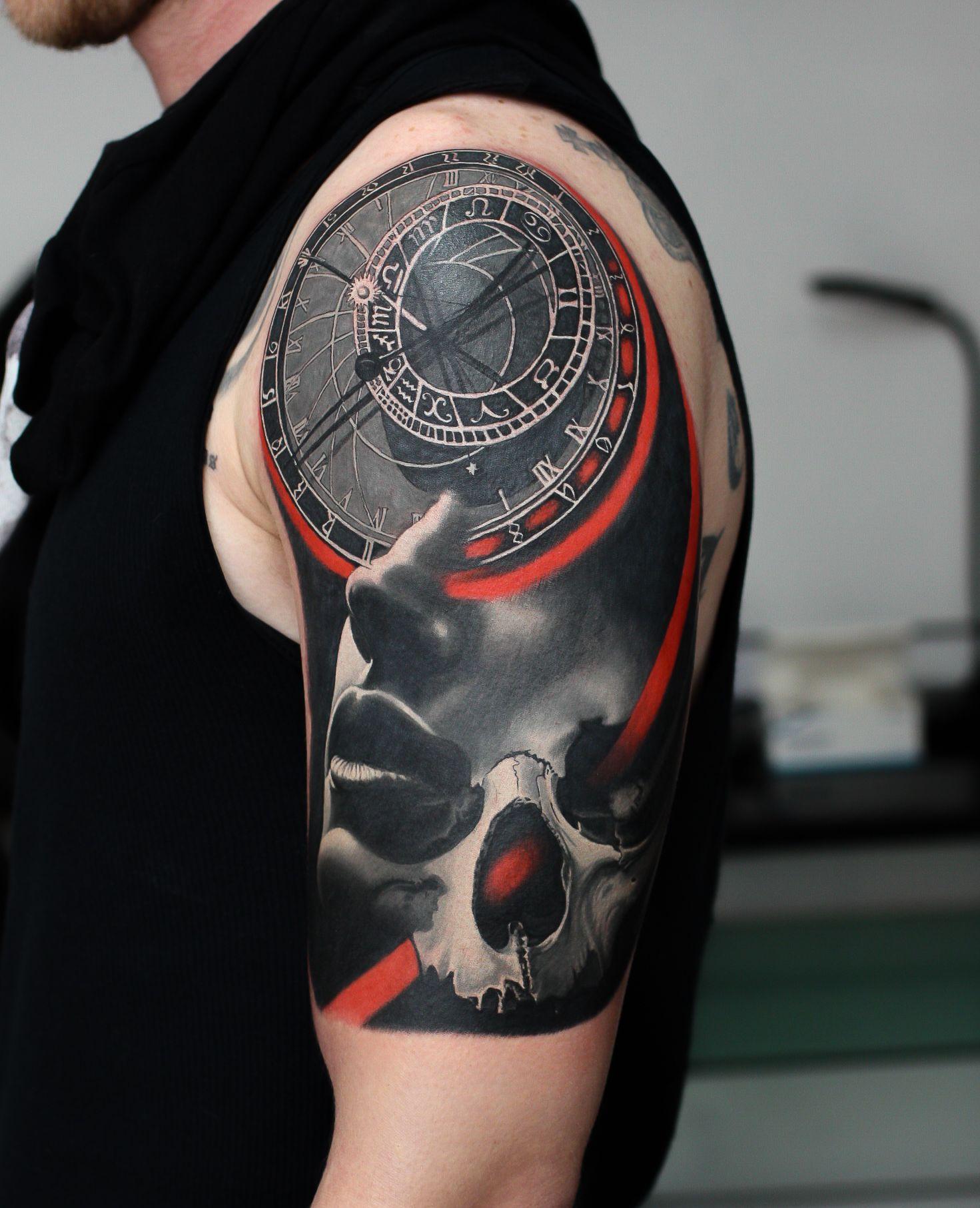 Astronomical Clock Tattoo: Tattoos, Tattoo Studio, Skull Tattoo