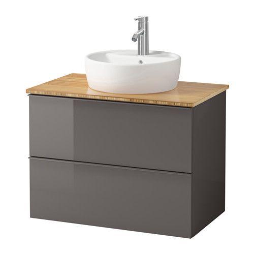 GODMORGON\/ALDERN \/ TÖRNVIKEN Waschbschr+Aufsatzwaschb 45 - Bambus - badezimmer bambus