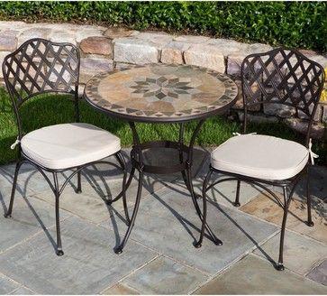 Mosaic Bistro Table Sets Dame Marble Mosaic Bistro Set