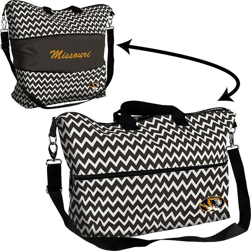 Logo Brand Missouri Tigers Chevron Expandable Tote, Women's, Multicolor
