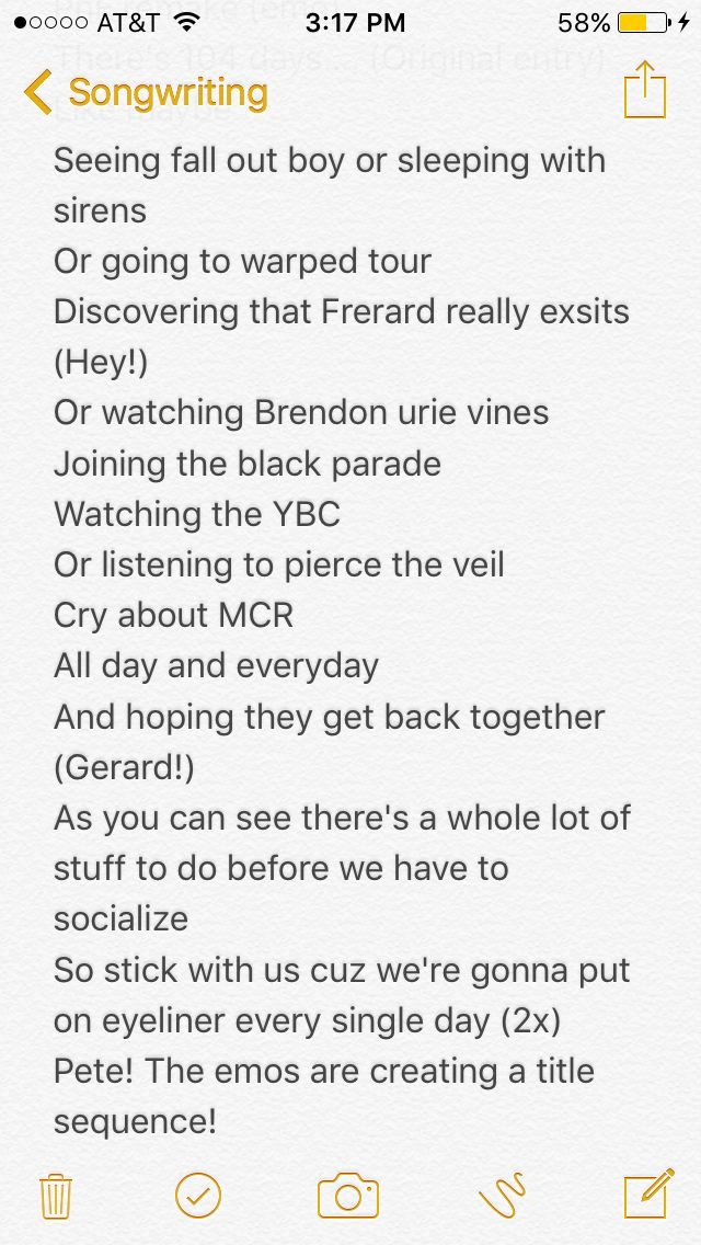 To The Tune Of Phineas And Ferb S Theme Song And Start With The Usual There S 104 Days Songwriting Warped Tour Black Parade