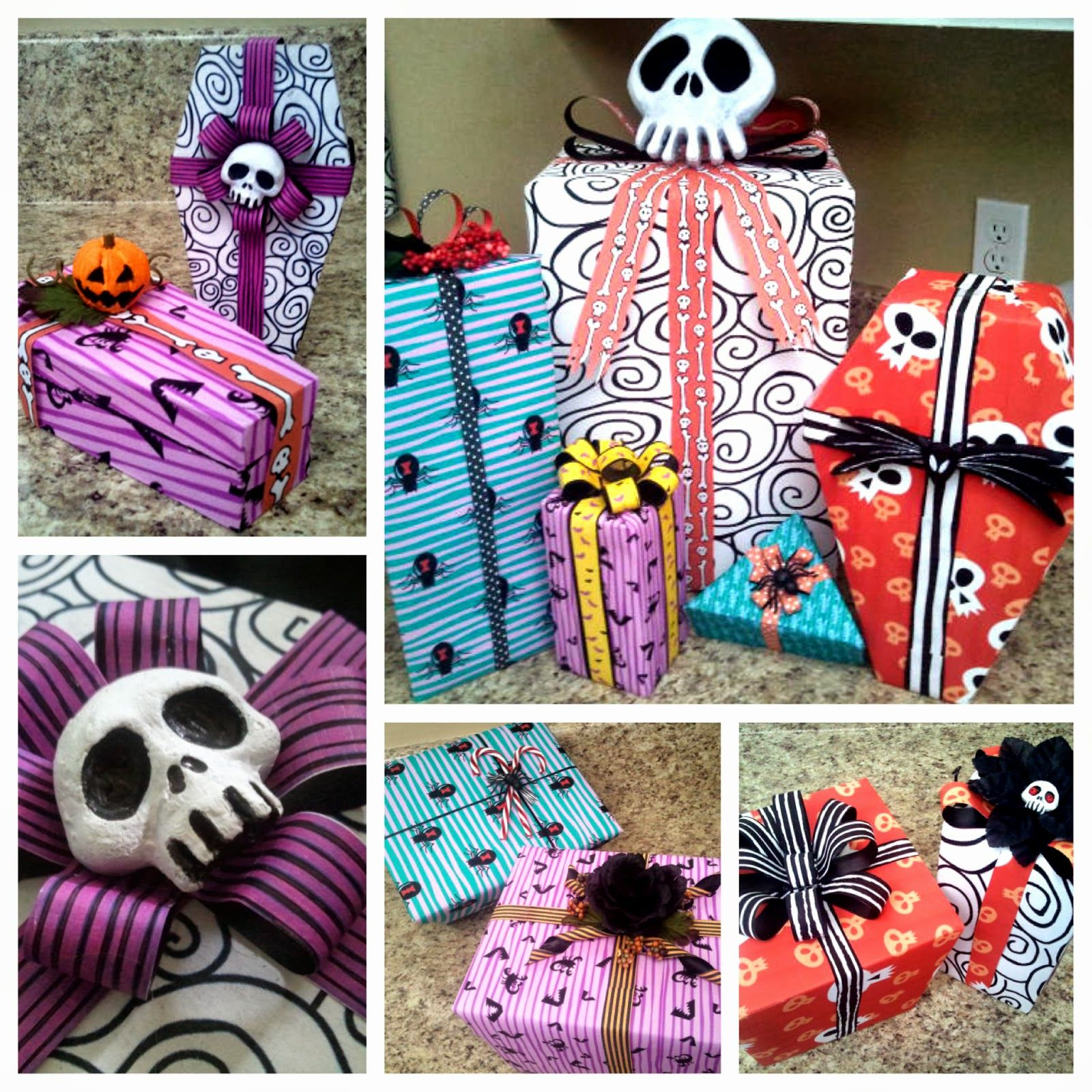 diy nightmare before christmas halloween props nightmare before christmas wrapping paper diy tutorial