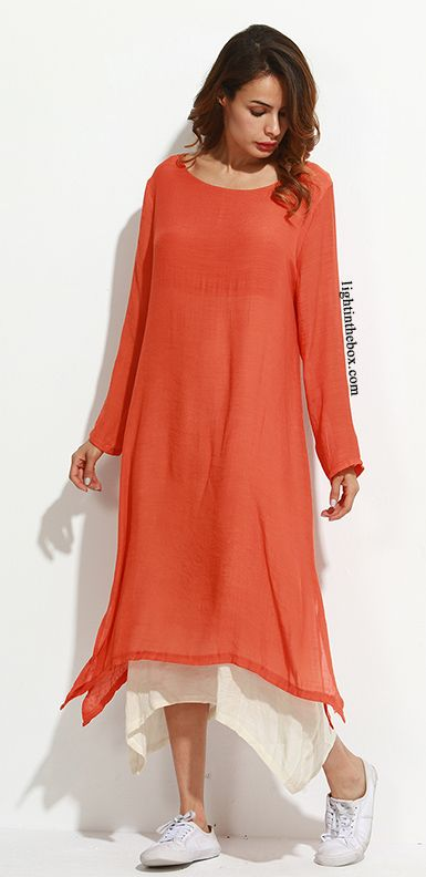 Women S Daily Weekend Chinoiserie Maxi A Line Loose Dress