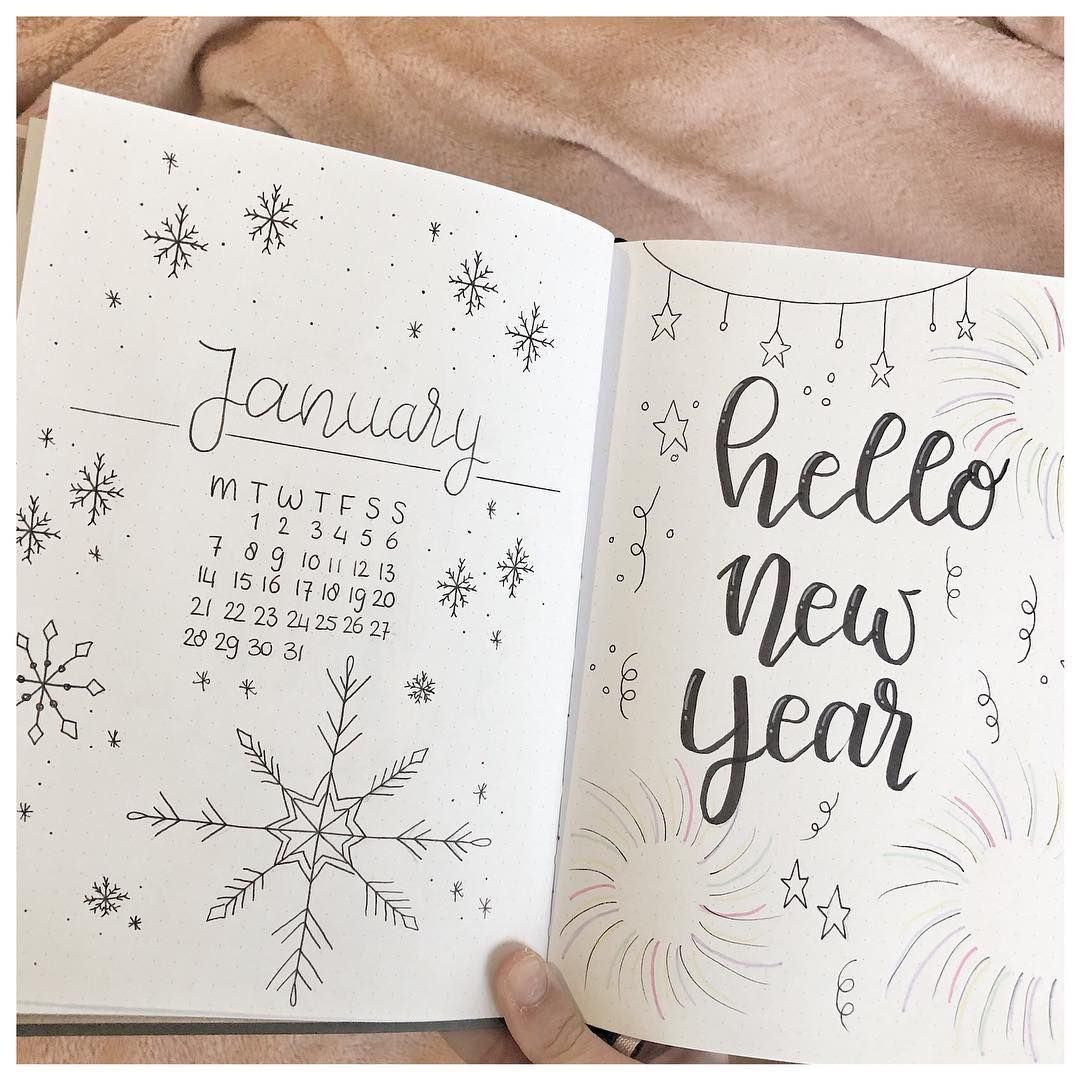 "@handlettering.by.b on Instagram: ""monthly layout januari️️ #bulletjournalideas #bulletjournal #monthlylayout #hlbyb #bulletjournaling #bujo #bujoinspiration…"""