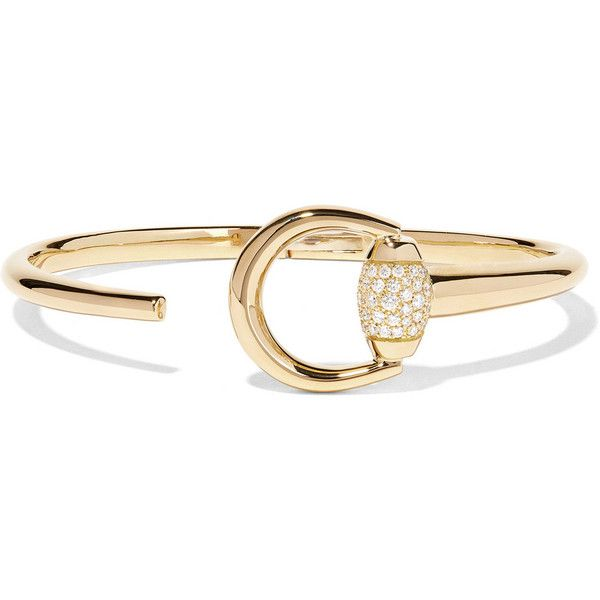 Unique Gucci karat gold diamond bracelet liked on Polyvore featuring jewelry